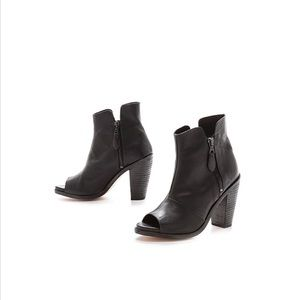 Rag & Bone Black Noelle Open Toe Booties